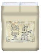 Wine Press Patent 1903 Duvet Cover