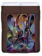 Wine Spirits Duvet Cover