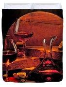 Wine Still Life Duvet Cover