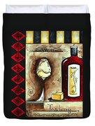 Wine Tasting Original Madart Painting Duvet Cover
