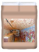 Wine Tasting Room In Castello Di Amorosa In Napa Valley-ca Duvet Cover