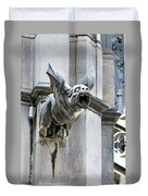 Winged Gargoyle Duomo Di Milano Italia Duvet Cover