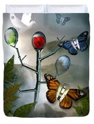 Winged Metamorphose Duvet Cover by Billie Jo Ellis