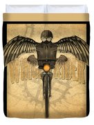 Winged Rider Duvet Cover