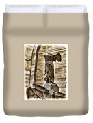 Winged Victory - Louvre Duvet Cover by Jon Berghoff