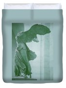 Winged Victory Of Samothrace Statue At The Louvre Museum        Duvet Cover