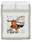 Wings Of A Robin Duvet Cover