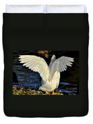 Wings Of A White Duck Duvet Cover