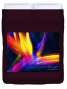 Wings Of Color Abstract  Duvet Cover