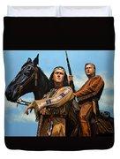 Winnetou And Old Shatterhand Duvet Cover
