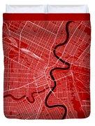 Winnipeg Street Map - Winnipeg Canada Road Map Art On Color Duvet Cover