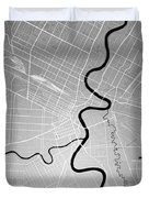 Winnipeg Street Map - Winnipeg Canada Road Map Art On Colored Ba Duvet Cover