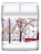Winter Arrives Watercolor Duvet Cover