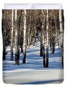 Winter Aspens Duvet Cover