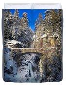 Winter At Christine Falls Duvet Cover