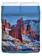 Winter At Fisher Towers Duvet Cover