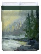 Winter At Gold Creek Duvet Cover