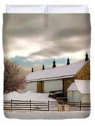 Winter At Piper Barn Anteitam National Battleground Duvet Cover