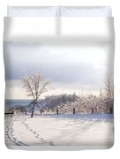 Winter At Scarborough Bluffs Duvet Cover