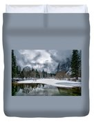 Winter At Swinging Bridge Duvet Cover