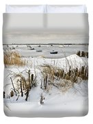 Winter At The Beach 2 Duvet Cover