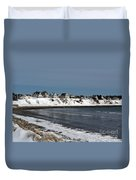 Winter At The Coast Duvet Cover