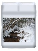 Winter At The Creek Duvet Cover