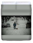 Winter Athlete Duvet Cover
