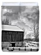 Winter Barn Monochrome Duvet Cover