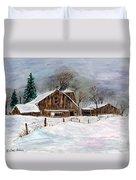 Winter Barns Duvet Cover
