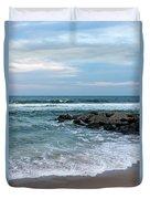 Winter Beach Lavallette New Jersey  Duvet Cover