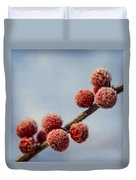 Winter Berries Duvet Cover