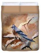 Winter Bird Duvet Cover