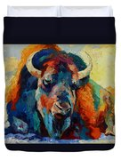 Winter Bison Duvet Cover
