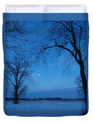 Winter Blues Duvet Cover