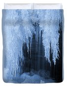 Winter Blues - Frozen Waterfall Detail Duvet Cover