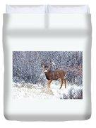 Winter Buck Duvet Cover by Darren  White