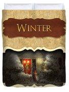 Winter Button Duvet Cover