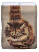 Winter Cat Duvet Cover