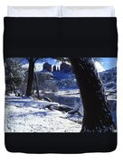 Winter Cathedral Rock Duvet Cover