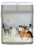 Winter Cats Duvet Cover