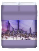 Winter City Duvet Cover
