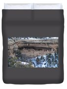 Winter Cliff Palace Duvet Cover