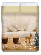 Winter Coffee Duvet Cover
