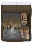 Winter Collage Duvet Cover