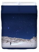 Winter Constellations Duvet Cover