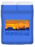 Winter Country Sunset Duvet Cover