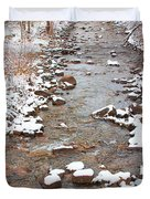 Winter Creek Scenic View Duvet Cover