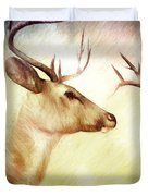 Winter Deer Duvet Cover