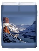 612702-winter Desert River, Ut Duvet Cover
